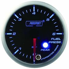 PROSPORT 52mm Premier Blue & Super White Led Fuel Pressure Gauge BAR