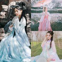 Lolita Fairy Chinese Ancient Ruqun Hanfu Fancy Long Robe Dress Cosplay Costume