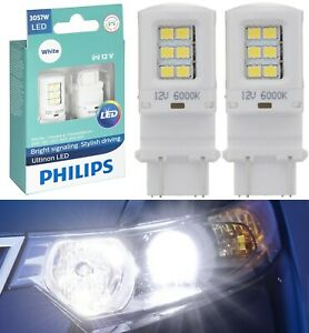 Philips Ultinon LED Light 3057 White 6000K Two Bulbs Front Turn Signal Park Lamp