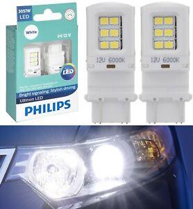 Philips Ultinon LED Light 3057 White 6000K Two Bulbs Front Turn Signal Park Lamp
