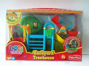 Fisher Price Dora The Explorer Talking Dollhouse Furniture Backyard Treehouse