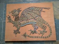 STEAM PUNK STYLE WELSH DRAGON PICTURE  TACKS / PEN NIBS / TACKS ORIGINAL ART