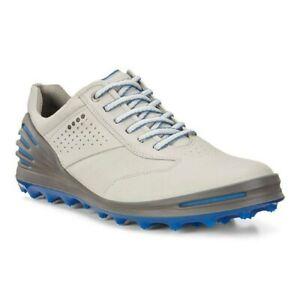 ECCO Mens Cage Pro Golf Shoe Grey Blue Size 44 M EU/10-10.5 DM US New With Box