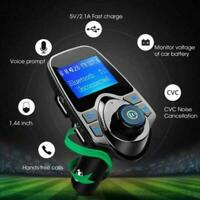 Car Bluetooth Wireless FM Transmitter MP3 Player Radio Charger Adapter USB G3T1