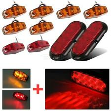 Trailer LED Light kit, Flange Mount Red Stop Turn Tail, Utility, Marker,Screws