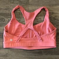 Lululemon 50 Rep Bra 10 Orange Persimmon Racerback Luon Sports Workout Yoga