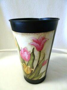 "8 1/2"" Metal Flower Vase/Bucket-NEW-Cut Flowers-Decor"