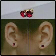 9Ct Gold on Sterling Silver 1.7Ct Flame Spinel Stud Earings