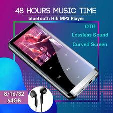 8-64GB MP3/MP4 Music Player Bluetooth Lossless Sound Portable FM Radio Voice UK