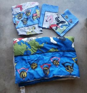Vintage 1994 Mighty Morphin Power Rangers Twin Size Comforter Set