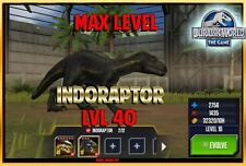 Jurassic World The Game Builder Max niveau indoraptor Paquet Android IOS Park
