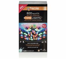 indoor outdoor 600 led multi function xmas lights multi coloured 6 metres
