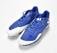 Adidas Mens Litestrike Cleats Size 8 Blue White Ortholite Metal Baseball Shoes