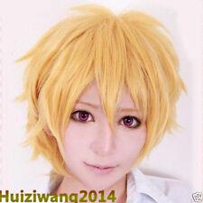 Free Shipping ! Hazuki Nagisa Kise Ryota Unisex Short Golden Cosplay Wig + Gift