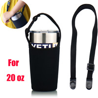 Black Strap Carry Bag Sleeve For YETI RTIC TERVIS OZARK SIC 20OZ RAMBLER TUMBLER