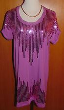 M. Asam ® chemise longue angeschnittener manches paillettes-décor taille 42 qvc