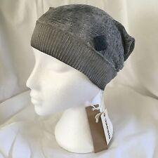 Diesel Kancia Womens Grey Slouchy Beanie Hat BNWT Osfa Italy RRP £49.99 Jeans sm