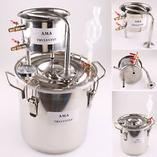 10L 2 Gal Moonshine Still Home Water Alcohol Essential Oil Distiller Brewing Kit