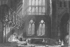 Scotland GLASGOW CATHEDRAL HIGH KIRK CHURCH SAINT MUNGO 1836 Art Print Engraving