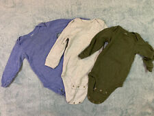 **EUC** Carter's bodysuits 18m 3 piece lot ~blue~gray~green~