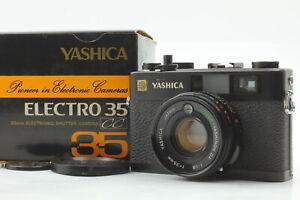 Ultra rare!![Exc+5 w/box] YASHICA ELECTRO 35 CC BLACK RANGEFINDER From JAPAN