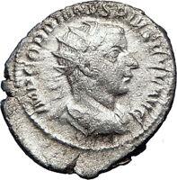 GORDIAN III 241AD Rome Ancient Silver Roman Coin 'Farnese' HERCULES i73173