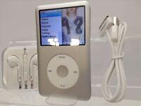 Apple iPod classic 7th Generation Silver / White (128GB) SSD (was 160GB)