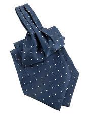 Cravate ascot Lavalière Bleu marin pour homme Mariage Cérémonie Fête Soirée Noel