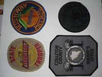 Lot of 15 Sew On and Iron On Sheriff Highway Patrol State Trooper Patches