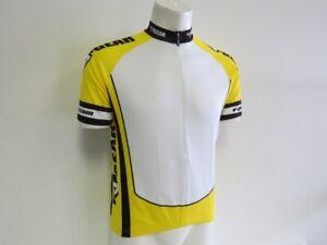 Verge Men's Medium Short Sleeve Cycling Jersey Yellow/White New