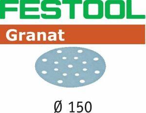 Festool StickFix Schleifscheiben Granat Ø 150 mm / 100 Stück / P180 - 496981