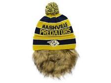 Nashville Predators Old Time Hockey NHL Sauk  Pom Knit with Beard Beanie Hat S17