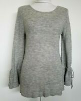 Lauren Conrad Womens Soft Pullover Sweater Gray Bell Sleeves Size S