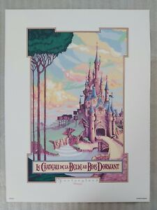 Disneyland Paris - Le Chateau De La Belle- Fantasyland - Attraction poster print
