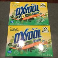 2 Boxes New Oxydol Powder Laundry Detergent Smells So Good Scent 63 Loads 100 Oz