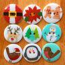Novelty Christmas buttons 22mm diameter 2 holes sold PER BUTTON