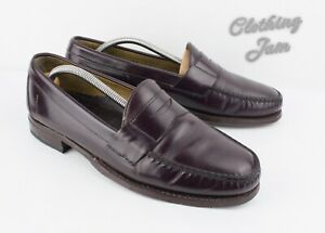 Brooks Brothers Penny Loafers Men's 9 D Burgundy Leather Slip On Dress Shoes