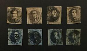 BELGIUM nice group of used 1861 imperf Medallions CV++