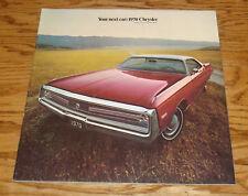 Original 1970 Chrysler Full Line Deluxe Sales Brochure 70 New Yorker 300 T&C