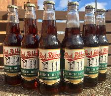 Red Ribbon Birch Beer Soda Pop 6 BOTTLES - Natrona Bottling Co. - Pittsburgh PA
