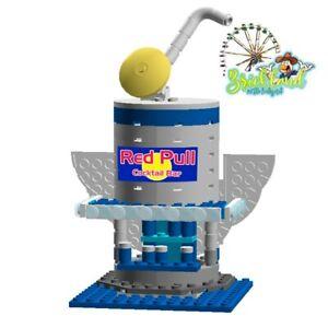 """Kirmesbude """"Red Pull"""" Bauplan für LEGO/ andere Klemmbausteine."""