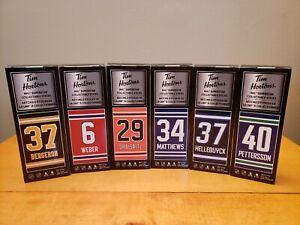 Tim Hortons 2021 NHL Superstar Collectible Hockey Sticks  Complete Set of 6 NIB