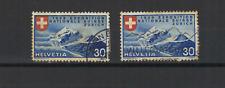 SUISSE Helvetia 1939 Pic Roseg 2 timbres oblitérés /T3232