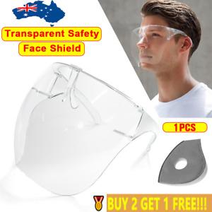 2021 Face Shield Protective Facial Cover Transparent Glasses Visor Anti-Fog AU🥇
