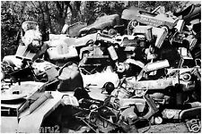 Pedal Cars in a Post WWII 50s 60s scrap yard for metal drive 8 x 10 photograph
