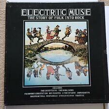 ELECTRIC MUSE THE STORY OF FOLK INTO ROCK VINYL 4 LP SET Excellent 1975 FOLK 100