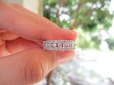 .81 Carat Diamond White Gold half Eternity Ring 14k HE62 sep