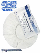10x Nitrile Gloves + No Rinse Shampoo Cap w/Conditioner - 1 STEP - 2 PACK