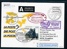 77333) LH FF Hof - Frankfurt 29.10.2001, Karte ab Schweiz SP M/S ALTE RHY