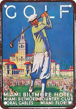 "7"" x 10"" Metal Sign - 1932 Golf at Miami Biltmore Hotel - Vintage Look Reproduct"